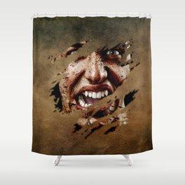 Vampire Screaming Shower Curtain