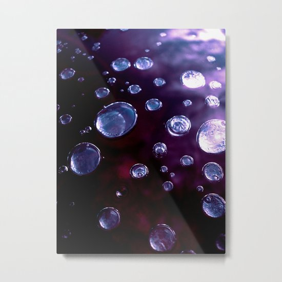 purple ice bubble IV Metal Print