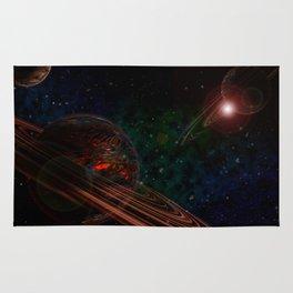 Space Scene Three Rug