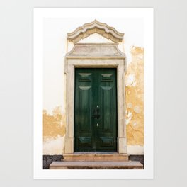 Old door in Tavira, Portugal Art Print