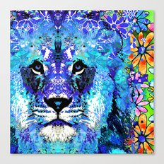 Lion Art - Beauty And The Beast - Sharon Cummings Canvas Print