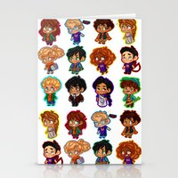 heroes of olympus Stationery Cards featuring Chibis of Olympus by chubunu