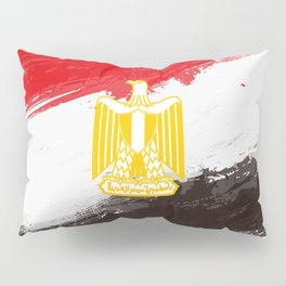 Egypt's Flag Design Pillow Sham