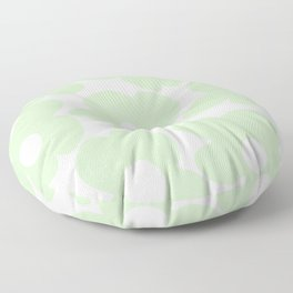 Large Baby Green Retro Flowers White Background #decor #society6 #buyart Floor Pillow