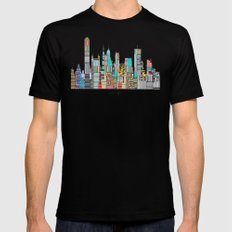 Memphis city 2X-LARGE Black Mens Fitted Tee