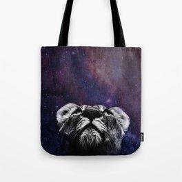 Galaxy Lion Tote Bag