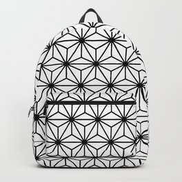 Geometric Black and White Isosceles Triangle Pattern Backpack