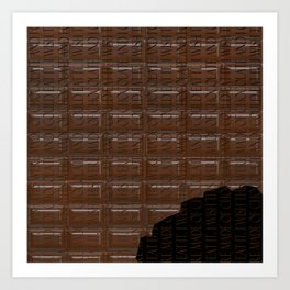 Chocolate Bar Art Print