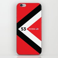 f1 iPhone & iPod Skins featuring F1 2015 - #53 Rossi by MS80 Design