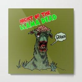 Night of the Llama Dead! Metal Print