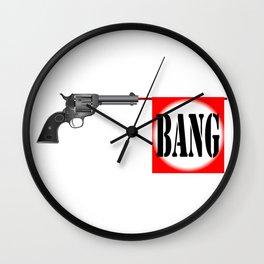 Wild West Bang Wall Clock