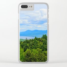 Lake George Overlook Clear iPhone Case