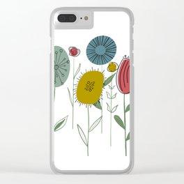 Be Unique Flowers Clear iPhone Case