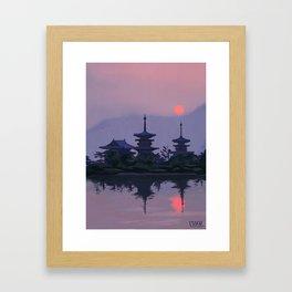 Yakushiji at Sunset Framed Art Print