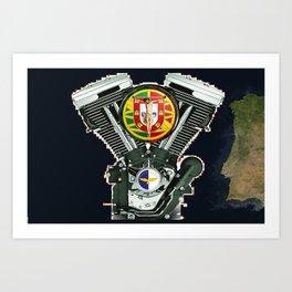Portuguese Motorcycle Community Art Print