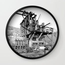 Lost Horse Gold Mill Wall Clock