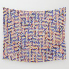 Motion in Muted Abstract Leaves Wall Tapestry