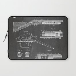 Automatic Rifle Patent - Browning Rifle Art - Black Chalkboard Laptop Sleeve
