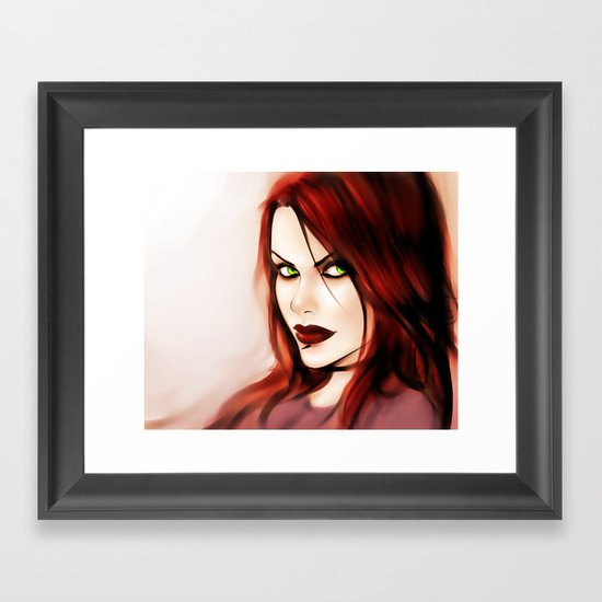 Burning Flame Framed Art Print