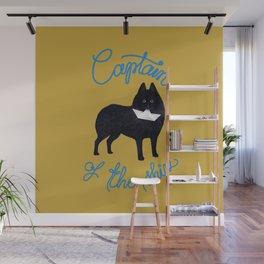 Captain Schipperke (Yellow and Blue) Wall Mural