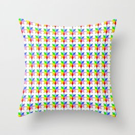 stars 18 multicolor Throw Pillow
