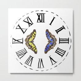 My Fluttery Clock 2 Metal Print