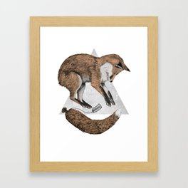 The Fox Who Lost His Tail Framed Art Print