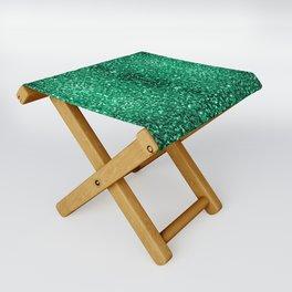Beautiful Emerald Green glitter sparkles Folding Stool