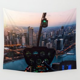 Chopping Over Chicago City Wall Tapestry