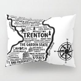 New Jersey Map  Pillow Sham