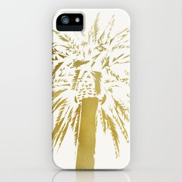 Gold Leaf Palm Tree iPhone Case