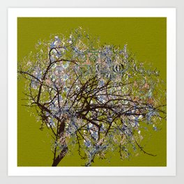Spring Tree Abstract digital art  composition Art Print