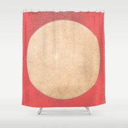 Imperial Coral - Moon Minimalism Shower Curtain