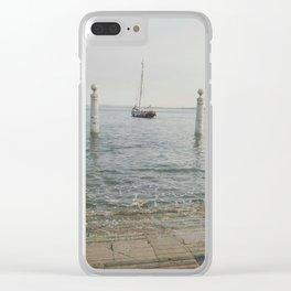 cais das colunas Clear iPhone Case