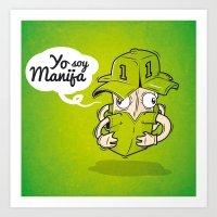Manija, el arquero invatible Art Print