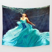 ariel Wall Tapestries featuring Ariel by Terrel