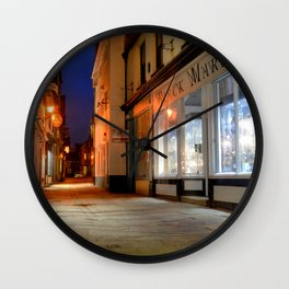 Sandgate, Whitby at Night Wall Clock