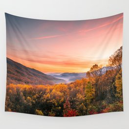 Autumn Sunrise in the Great Smoky Mountains of Tennessee Wall Tapestry