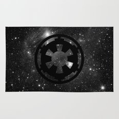Cosmic Galactic Empire in Black and White Rug