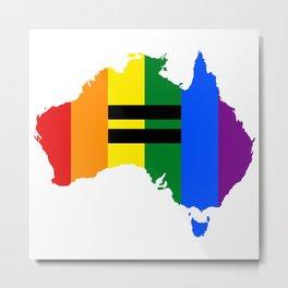 LGBT equality Australia Metal Print