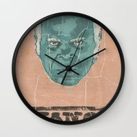 stephen king Wall Clocks featuring stephen by kjell