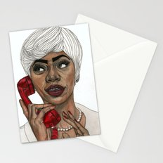 Girl with the Red Telephone Stationery Cards
