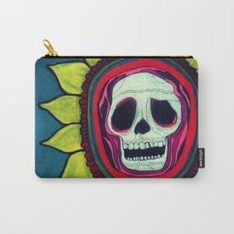Skull Flower Carry-All Pouch