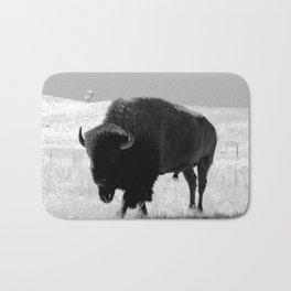 Bison On Open Range Bath Mat