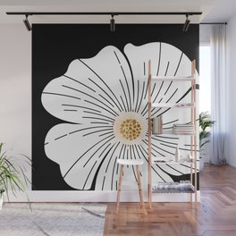 Black and White Blossom Wall Mural