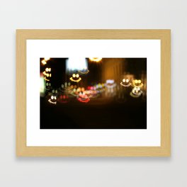 Smiley smile bokeh Framed Art Print