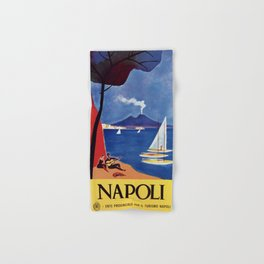 Napels Italy retro vintage travel ad Hand & Bath Towel