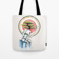 health Tote Bags featuring Health by M. Adeline Nef