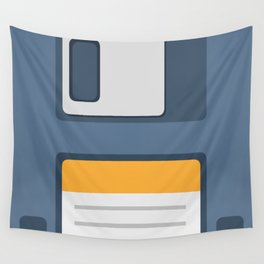 Old School Computer Floppy Diskette Wall Tapestry