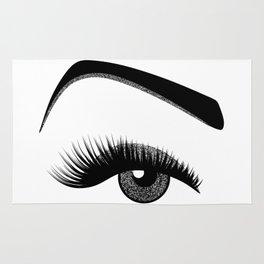 Silver eye makeup Rug
